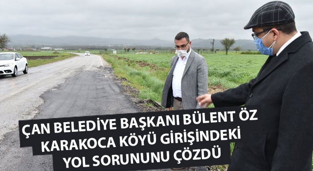 Başkan Öz, Karakoca köyü girişindeki yol sorununu çözdü