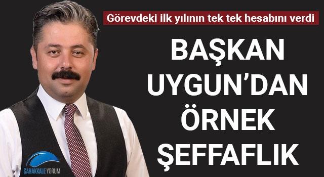 Başkan Uygun'dan örnek şeffaflık: Görevdeki ilk yılının tek tek hesabını verdi