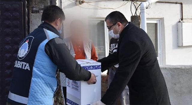 Çan'da yardım kolileri ihtiyaç sahiplerine ulaştırılıyor