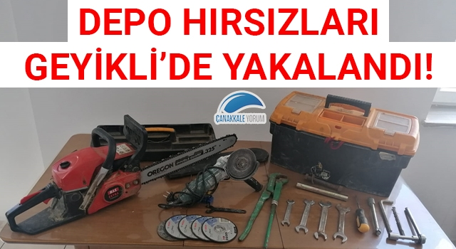 Depo hırsızları Geyikli'de yakalandı!