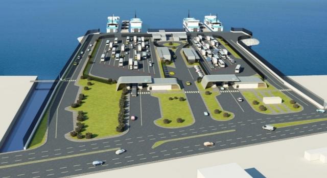 Gelibolu Yeni Feribot Terminali'ndedeniz taş dolgusuna başlanıyor