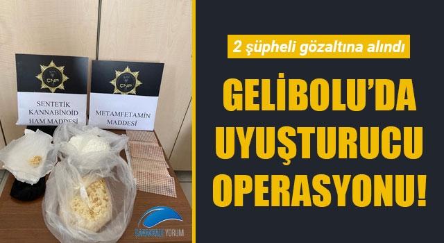 Gelibolu'da uyuşturucu operasyonu: 2 gözaltı