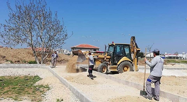 Yeni yerleşim bölgesinde çalışmalar sürüyor