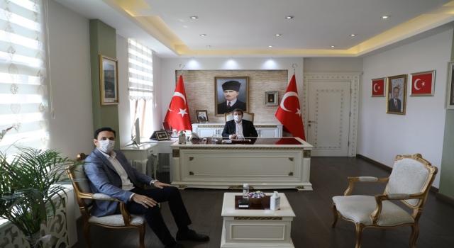 Başkan Makas'tan, Vali Tavlı'ya ziyaret: Bakkalların taleplerini iletti