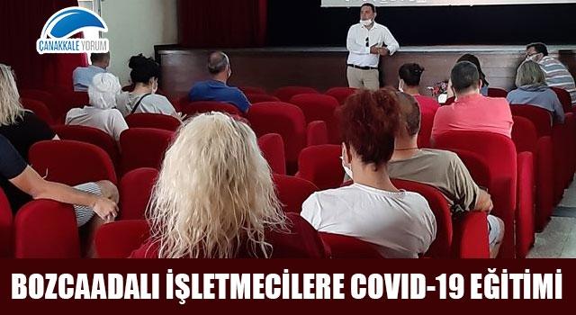 Bozcaadalı işletmecilere Covid-19 eğitimi