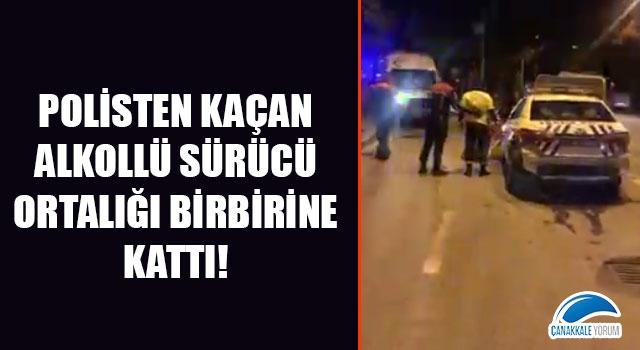 Polisten kaçan alkollü sürücü ortalığı birbirine kattı!