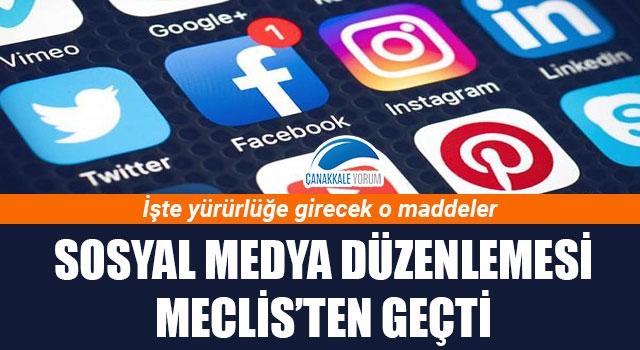 Sosyal medya düzenlemesi Meclis'ten geçti: İşte yürürlüğe gireceko maddeler