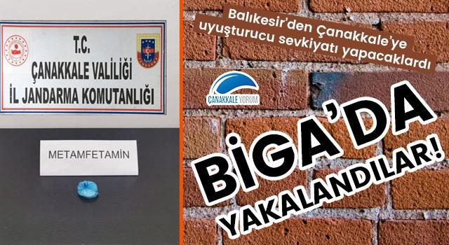 Balıkesir'den Çanakkale'ye uyuşturucu sevkiyatı yapacaklardı: Biga'da yakalandılar!