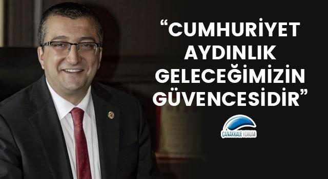 """Başkan Öz: """"Cumhuriyet, aydınlık geleceğimizin güvencesidir"""""""
