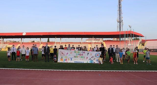 Çanakkale'de Amatör Spor Haftası coşkusu