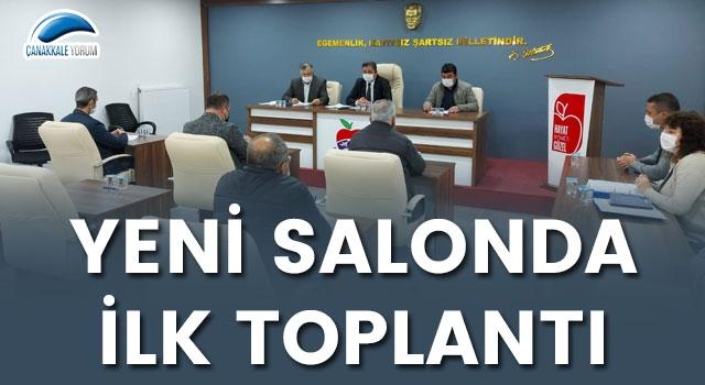 Bayramiç Belediye Meclisi yeni salonda toplandı