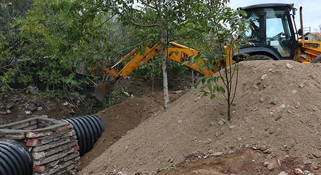 Bayramiç Belediyesi yağmur baskınlarına karşı çözüm üretiyor