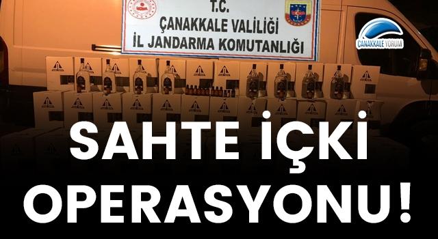 Çanakkale'de sahte içki operasyonu!