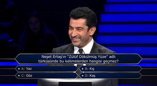 """Neşet Ertaş'ın """"Zülüf Dökülmüş Yüze"""" adlı türküsünde hangisi geçmez?"""