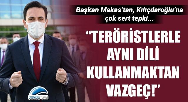 """Başkan Makas'tan, Kılıçdaroğlu'na çok sert tepki: """"Teröristlerle aynı dili kullanmaktan vazgeç!"""""""