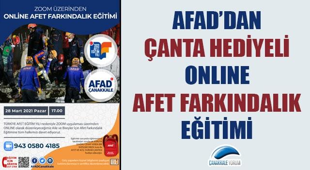 AFAD'dan çanta hediyeli online Afet Farkındalık Eğitimi