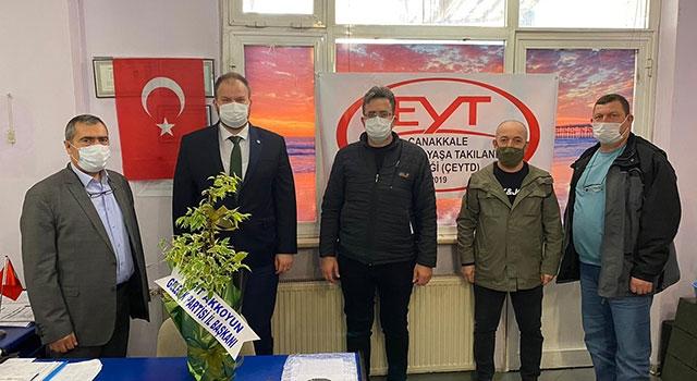Gelecek Partisi'nden, EYT Çanakkale Şubesine ziyaret