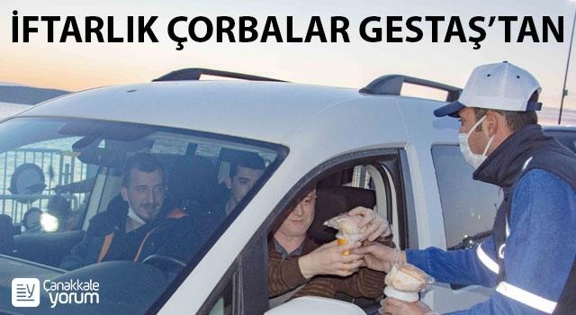 Gestaş'tan yolculara iftarlık sıcak çorba ikramı