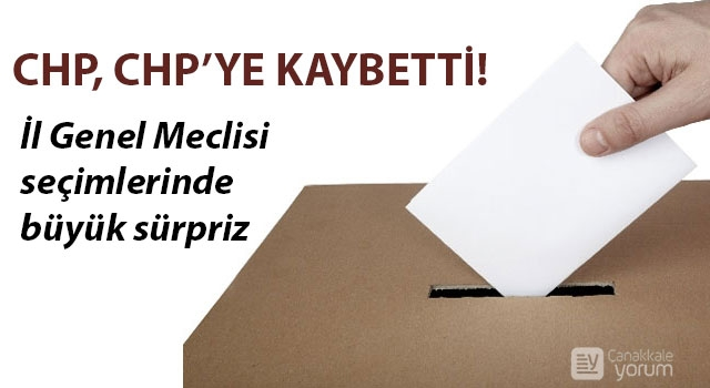 İl Genel Meclisi seçimlerinde büyük sürpriz: CHP, CHP'ye kaybetti!