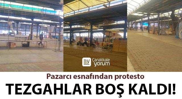 Pazarcı esnafından protesto: Tezgahlar boş kaldı!