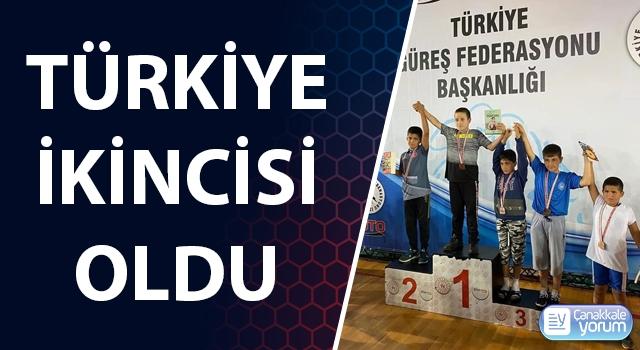 Çan Belediyesi Güreş Kulübü sporcusu Türkiye ikincisi oldu