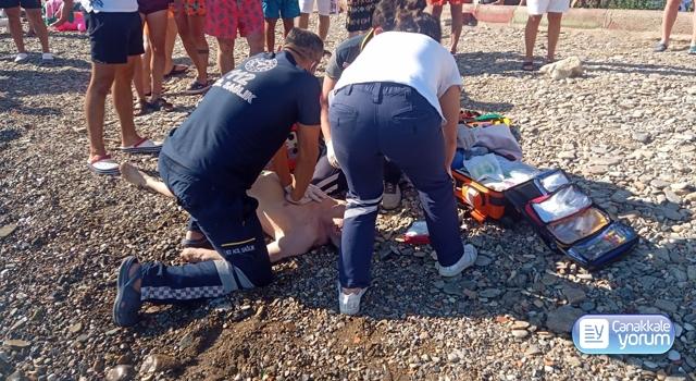 Ayvacık'ta serinlemek için denize giren yaşlı adam boğuldu!