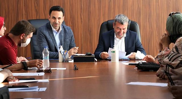 Başkan Makas, bölge koordinatörüne teşkilat çalışmalarını anlattı