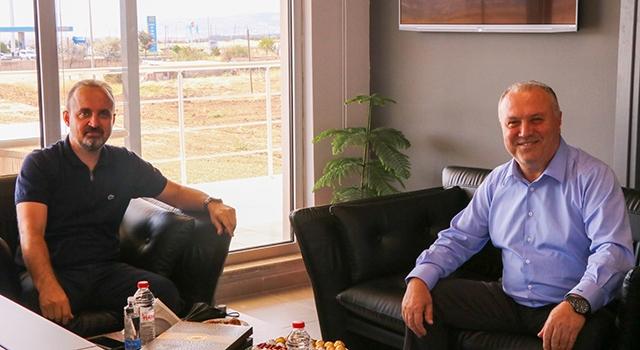 AK Parti'li Turan'dan, OSB Başkanı Ersoy'a ziyaret
