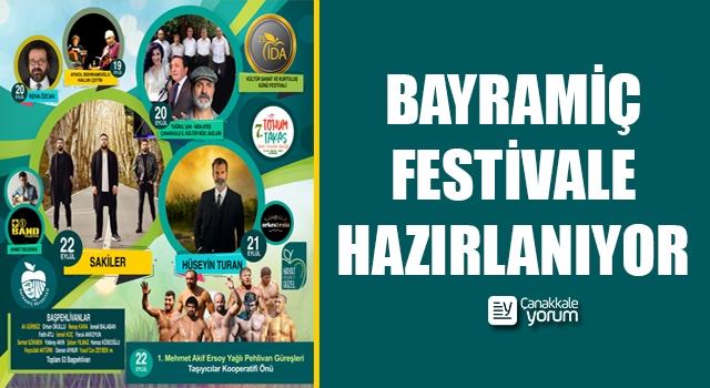 Bayramiç, festivale hazırlanıyor