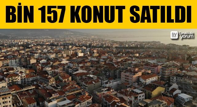 Çanakkale'de bin 157 konut satıldı