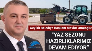 """Başkan Oruçoğlu: """"Yaz sezonu hazırlıklarımız devam ediyor"""""""