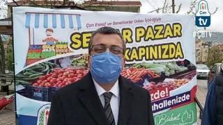 """Başkan Öz: """"Seyyar Pazar uygulamasını hayata geçirdik"""""""