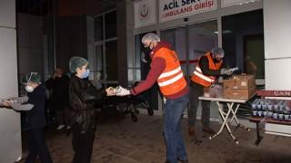 Çan Belediyesinden sağlık çalışanlarına yemek ikramı