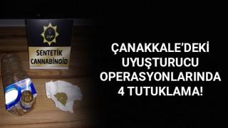 Çanakkale'deki uyuşturucu operasyonlarında 4 tutuklama!