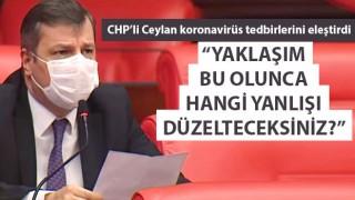 """CHP'li Ceylan koronavirüs tedbirlerini eleştirdi: """"Yaklaşım bu olunca hangi yanlışı düzelteceksiniz?"""""""