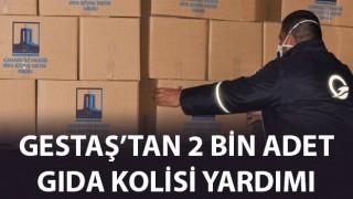 Gestaş'tan 2 bin adet gıda kolisi yardımı