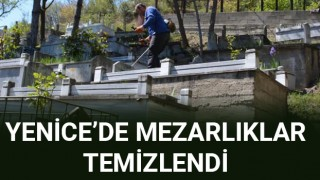 Yenice'de mezarlıklar temizlendi