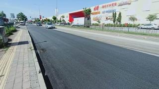 Atatürk Caddesindeki asfalt onarım çalışması tamamlandı