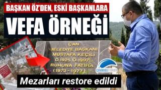 """Başkan Öz'den, eski başkanlara vefa örneği: """"Mezarlarını restore ettik"""""""