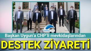 Başkan Uygun'a CHP'li mevkidaşlarından destek ziyareti