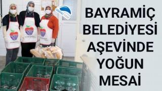 Bayramiç Belediyesi aşevinde yoğun mesai