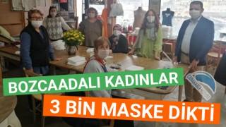 Bozcaadalı kadınlar 3 bin maske dikti