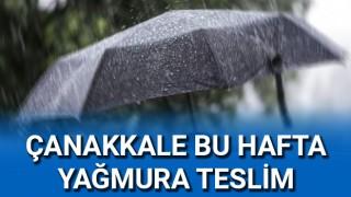 Çanakkale bu hafta yağmura teslim