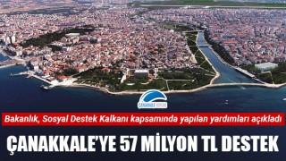 Çanakkale'ye 57 milyon TL destek