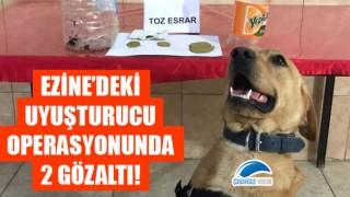 Ezine'deki uyuşturucu operasyonunda 2 gözaltı!