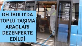 Gelibolu'da toplu taşıma araçları dezenfekte edildi