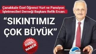 """Refik Ercan: """"Sıkıntımız çok büyük"""""""