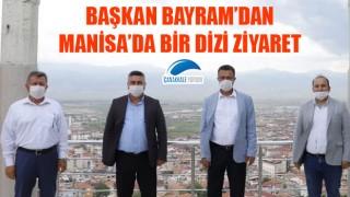 Başkan Bayram'dan Manisa'da bir dizi ziyaret