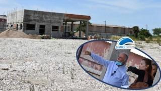 Başkan Gökhan, Barış Kordonu Kafeterya Binası çalışmalarını inceledi