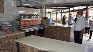 Başkan Gökhan, Özgürlük Parkı kafeterya binasını inceledi: Hafta sonu hizmete giriyor